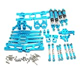 Binchil 12428 Upgrade Accessories Kit for Wltoys 12428 12423 12427 Feiyue Fy03 Q39 Q46 1/12 Rc Car Universal Parts,Blue