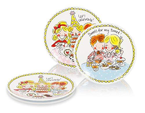 Blond Amsterdam - Eben quatschen - Set 4 Desserttassen ø18cm - Girls und love
