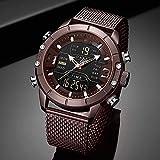 Voigoo Sport Analog Digital Uhren Männer Luxuxmarken Edelstahl Sport Herrenuhr Digitale wasserdichte Mann-Uhr