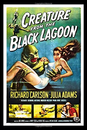 Creature From The Black Lagoon Retro Movie Poster Journal: Vintage Horror Movie Notebook