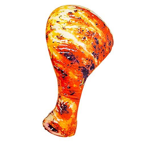 Jensquaify Creative 3D Chicken Leg Throw Pillows Funny Food Plush Pillow Toys, 35.4'