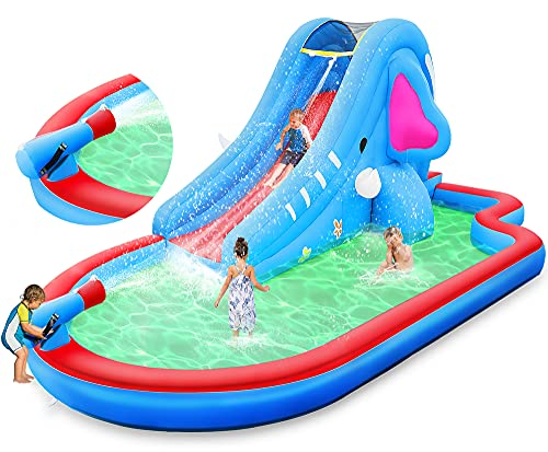 Elephant Outdoor Inflatable Water Park for Kids Only $214.99 (Retail $429.99)