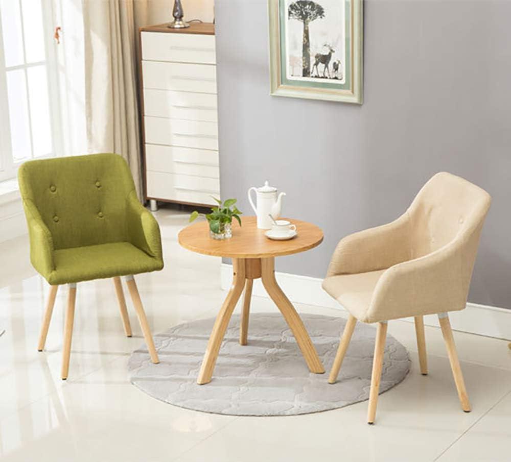 ANKIKI Chaise Moderne Nordique Chaise de Salle à Manger Bois Massif Jambes Les fauteuils, pour Accueil/Salon Lounge/Cuisine/Bureau,Grassgreen Yellow