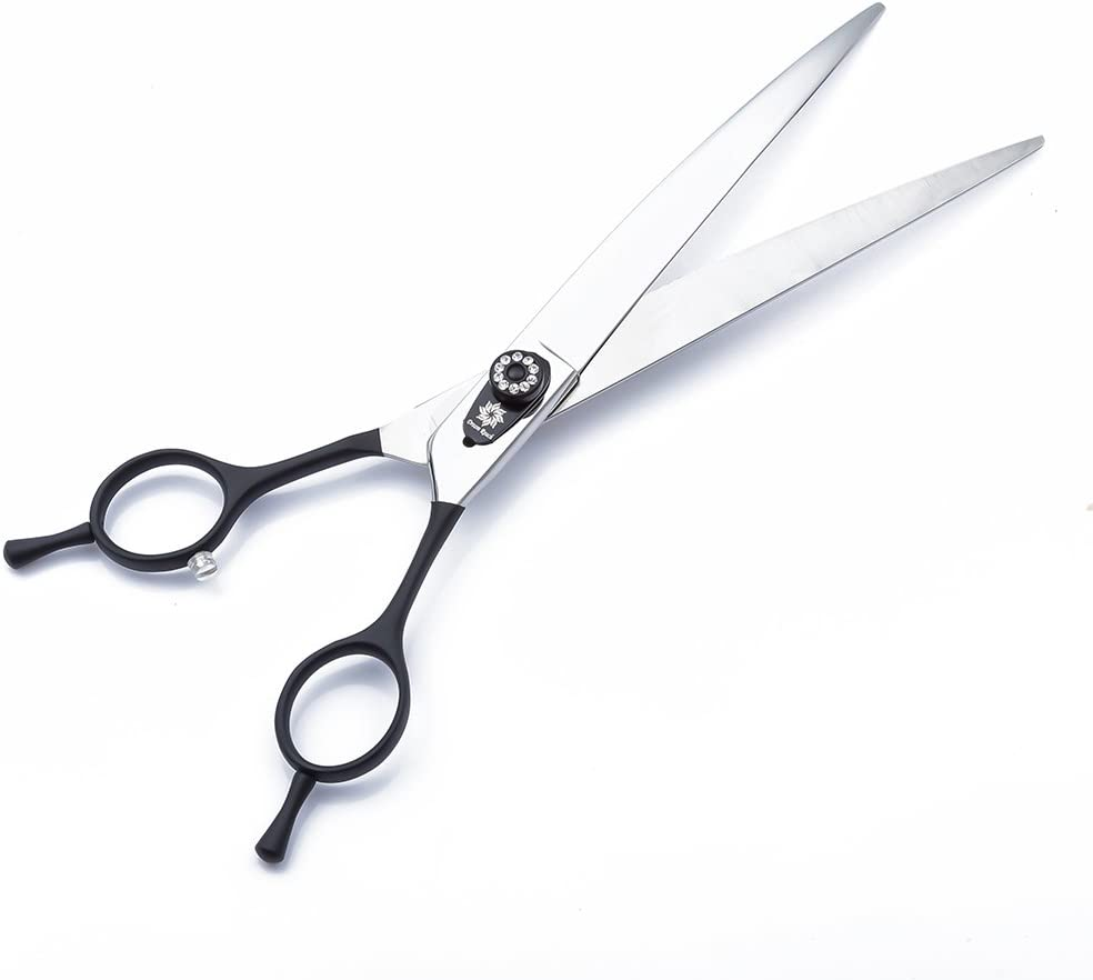Downward Curved Pet Grooming Cutting Scissor Dream Reach Professional 8.0 inch Pet Grooming Shear Two-way Curved Blade Dog Grooming Shears for Left and Right hand Pet Groomers
