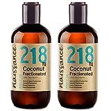 Naissance Aceite Vegetal de Coco Fraccionado n. º 218 – 500ml (2x 250ml) - Puro, natural, vegano, sin hexano, no OGM - Ideal para aromaterapia, masajes y recetas artesanales.