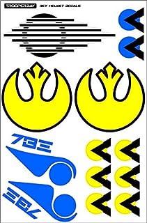 Rey Helmet Decals The Force Awake Stickers Star Wars Movie Disney