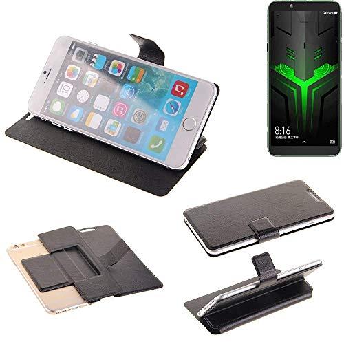 K-S-Trade® Schutz Hülle Für Xiaomi Blackshark Helo Schutzhülle Flip Cover Handy Wallet Case Slim Handyhülle Bookstyle Schwarz