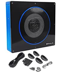 "Rockville RW8CA 600 Watt 8"" Active Sealed Slim Car Subwoofer. 600 Watts Peak Power / 150 Watts RMS. PWM MOSFET Power Supply. Low Level RCA Input. High Level Inputs with Auto Turn-On Technology. Adjustable Input Sensitivity. Soft Delayed Remote Turn-O..."