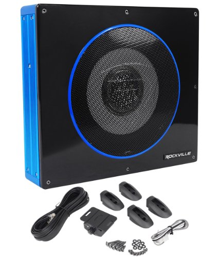 Rockville RW8CA 8' 600 Watt Low Profile Under-Seat Active Powered Car Subwoofer