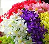 10 tenedores de 30 flores artificiales de alta gama para hacer lirios de narciso, flores, manualidades, bodas, fiestas, hogar, D