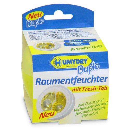 HUMYDRY Duplo 75g Raumentfeuchter Zitrone. Beseitigt zu hohe Luftfeuchtigkeit. Luftentfeuchter ohne Strom