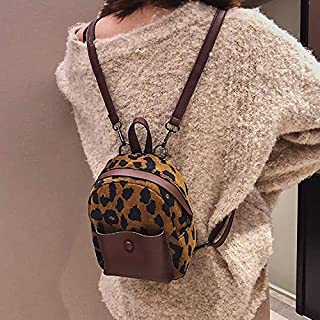 Fashion Single-Shoulder Bags Leisure Fashion Double/Single Shoulder Bag Messenger Bag (Black) (Color : Brown)