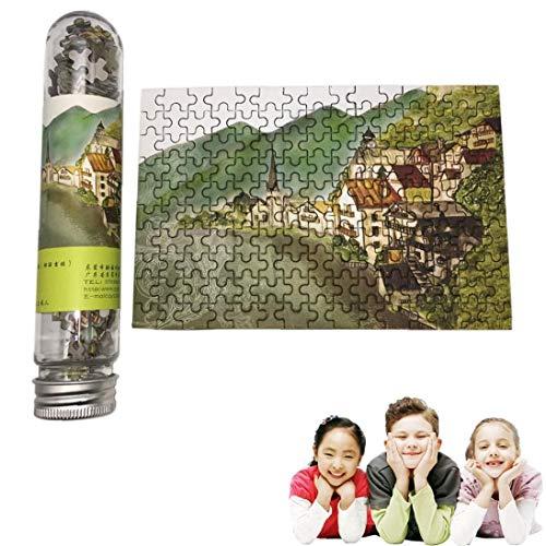 Diversión Rompecabezas creativo Ocio Turismo mini rompecabezas Conjunto con botella Tubo novedad del regalo de Navidad de juguete para niños C 150pcs / pack
