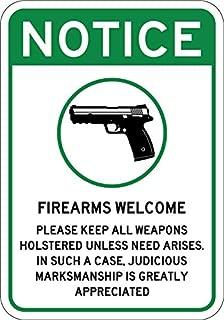 Firearms Guns Welcome Sign 7