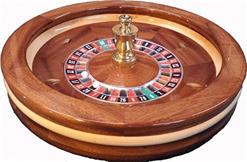 Find Discount ACEM Casino supplies 22 Inch Mahogany Roulette Wheel Maid in The USA