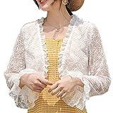 WE-WHLL - Chaqueta de manga larga para mujer, color crema solar