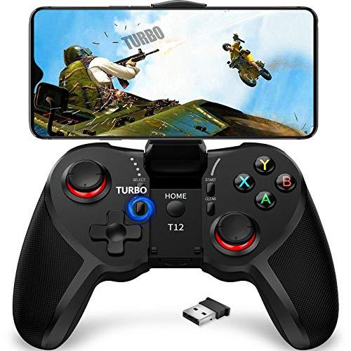 TERIOS Mobile Game Controller para Android, PC Mando, Gaming Remote para Smartphones, PS3, Windows, Instant Play y Función Turbo