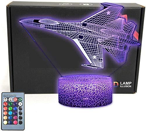 Luchador 3D ilusión óptica escritorio mesa lámpara noche luz para niños 18 colores luces LED con interruptor táctil para niños regalos decoración dormitorio
