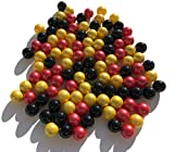 Juego de 100 murmullos de cristal de Alemania, mezcla, negro, rojo y dorado, 16 mm, piedras de cristal, para florero, color negro, rojo y dorado