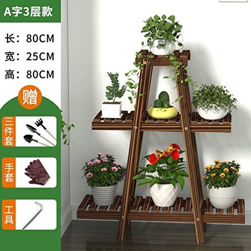 HONIC Blumen-Rack-Anlagen Stehen Multi Holz-Regale Bonsai-Anzeigen-Regal Indoor Blumenständer Outdoor Indoor-Garten Terrasse Balkon: C11