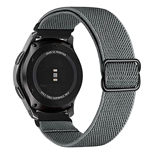 MroTech Compatible con Huawei Watch GT 2 46 mm/GT 2e/GT2 Pro Correa Nailon 22mm Pulseras Repuesto para Samsung Galaxy Watch 3 45mm/Gear S3 Frontier/Galaxy 46mm Banda Nylon Woven Sport Band Loop-Gris