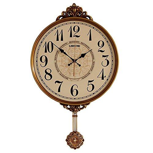 Klassische Wanduhr Mit Pendel Pendeluhr, Antike Vintage Dekorative Wanduhr Quarzwerk Wobble Clock...