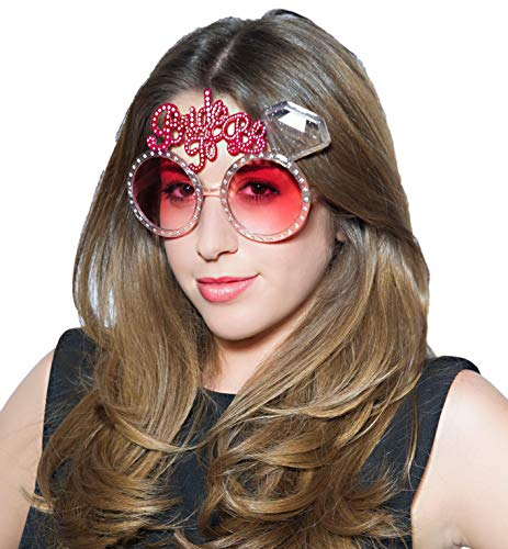 Party-Teufel® Diamanten Sonnenbrille mit der Aufschrift Bride to Be Accessoire Junggesellenabschied Bridal Shower