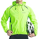 Santic Men s Cycling Jacket Windproof Long Sleeve Wind Jacket Bicycle Coat Hooded Jackets Skin Coat Green