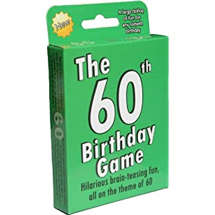 The 60th Birthday Game a fun gift or present specially for people turning sixty. Also works as an amusing little 60th party quiz game idea or icebreaker