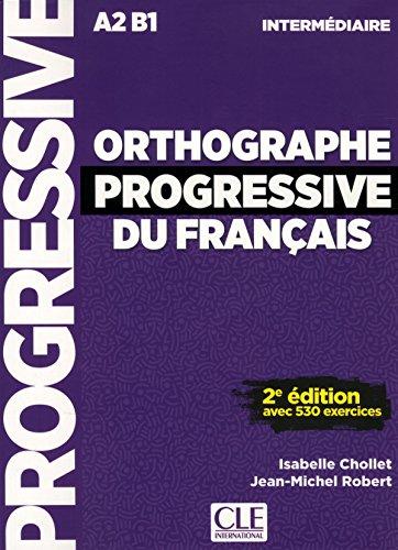 Orthographe progressive du français - Niveau intermédiaire (A2/B1) - Livre + CD - 2ème édition - Nouvelle couverture