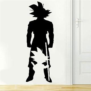 pegatina de pared Dragon Ball Tatuajes de pared Dragon Ball Z Anime Carácter Goku Desde pequeños a grandes apliques de pared Dormitorio Anime Ventiladores Vinilos decorativos Pegatinas de pared