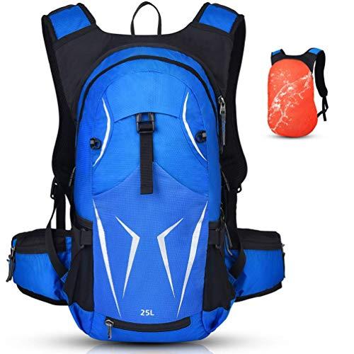 Vbiger Fahrradrucksack Damen Herren 25L Sportrucksack Wasserdichter Trinkrucksack Tagesrucksack für Radsport Outdoor (Blau mit Wärmedämmung)