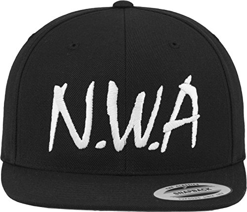 Mister Tee N.W.A Snapback, Cappello Unisex, Black, One Size