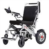 wheelchair Silla de rehabilitación médica, silla de ruedas, silla de ruedas eléctrica de servicio pesado con reposacabezas, silla de ruedas eléctrica ligera y plegable de 25 kg, capacidad de peso 120