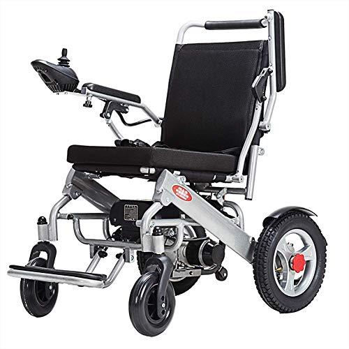 CHAIR Medizinischer Reha-Stuhl, Rollstuhl, elektrischer Rollstuhl, moderner intelligenter 360 ° -Joystick, zusammenklappbar, Handschieben/Elektrisch Langlebig Senioren im Freien Behinderte Vierrädr