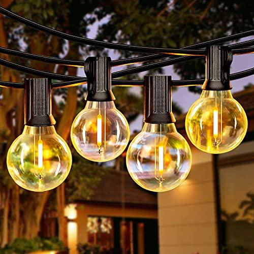 LED Lichterkette Außen, 9.77M 26+2 G40 LEDs, IP44 Wasserdicht Glühbirne Retro für Party, Hochzeit, Haus, Garten, Patio und Terrassen