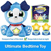 Starshine Watchdogs Orion Light-Up Talking Plush Bedtime Toy, Remote Control Kids Night Lights, Comforting Phrases, Calming Children's Storybook. 4pc Ready-for-Bed Set. Plus Free Coloring Pages!