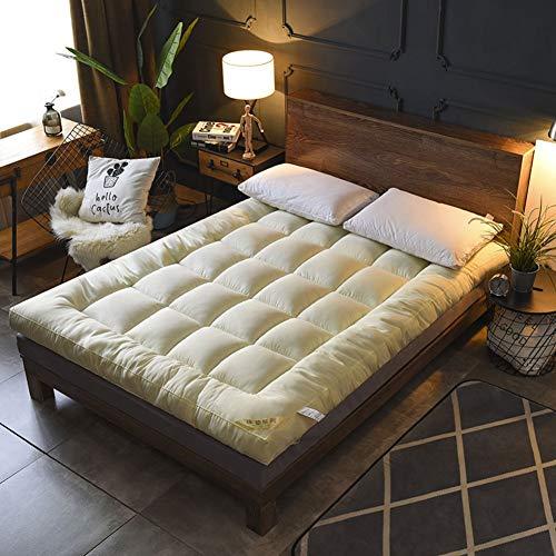 Opvouwbare verdikking Tatami vloer matras, hypoallergeen enkele bed mat slaapzaal koeling matras topper decoratie 180x220cm (71x87inch) C