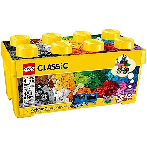 LEGO 10696 Classic Mittelgroße Bausteine-Box, Lernspielzeug, einfache Aufbewahrung, Geschenk Fans