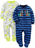 Simple Joys by Carter's Baby Jungen 2er Pack Baumwolle Fuß Sleep and Play ,Little Brother/Dino ,Preemie