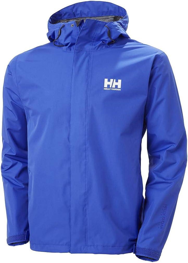 Helly-Hansen Men's Seven J Waterproof Windproof Breathable Rain Jacket