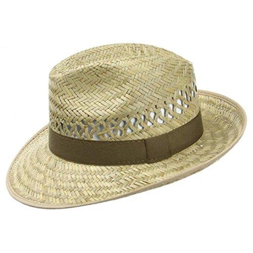 Ernte Strohhut Damen/Herren | Hut aus 100% Stroh | Sonnenhut Bogarthut 61 cm | in Naturfarbe