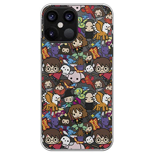 Movilshop Funda para [ iPhone 12 Pro MAX ] Harry Potter Oficial [Charms Mix] Warner de Silicona Flexible Transparente Carcasa Case Cover Gel para Smartphone.