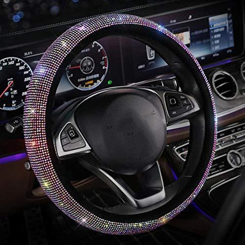 Auto Lenkrad Dekoration Abdeckung,MoreChioce Luxuriös 3D Bling Strass Glitzer Kristall Auto Innenraum Styling Zubehör Auto Innendekoration Abdeckung
