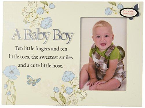 Angelstar 13361 Baby Boy fotolijst, 10–3/4 van 8 inch