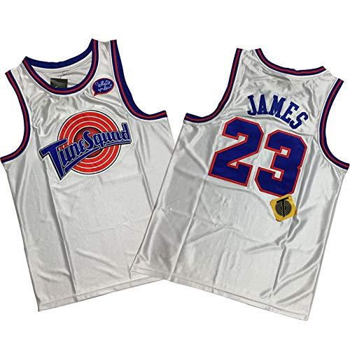James Air Slam Dunk Camiseta de baloncesto Laker 6# 23# King, 90S Hip Hop Ropa para fiesta, letras y números cosidos blanco A-XXL