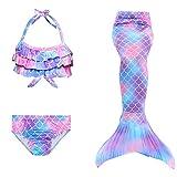 shepretty Traje de Baño Sirena de Las Muchachas Bikini Set,A8wupu,150