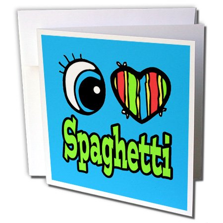 Dooni Designs Eye Heart I Love Designs???Bright Eye Heart I Loveスパゲッティ???グリーティングカード Individual Greeting Card
