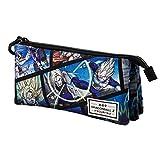 KARACTERMANIA Dragon Ball Frames-Estuche Portatodo Triple HS, Multicolor