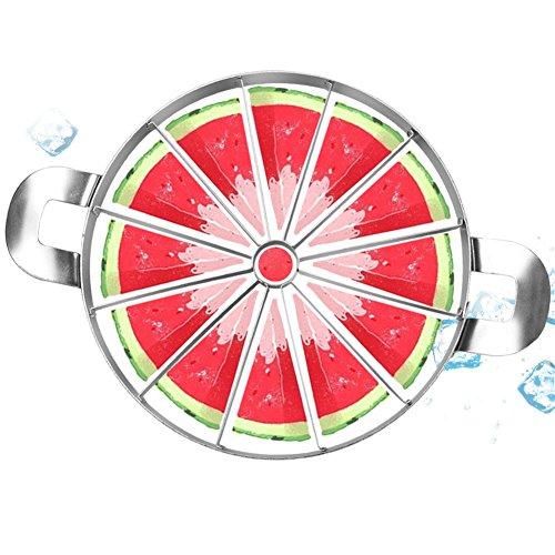 Energeti Cortadora de sandía creativa: corte de cuchillo de melón, cortador, acero inoxidable 420, corte de frutas, utensilios de cocina, puede cortar 12 piezas